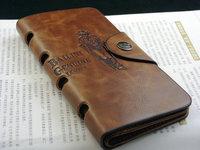 5pcs/lot Special Promotion New Men's Vintage Wallet Fine Bifold Brown Genuine Leather & Pu Bailini Purse Wallets For Men