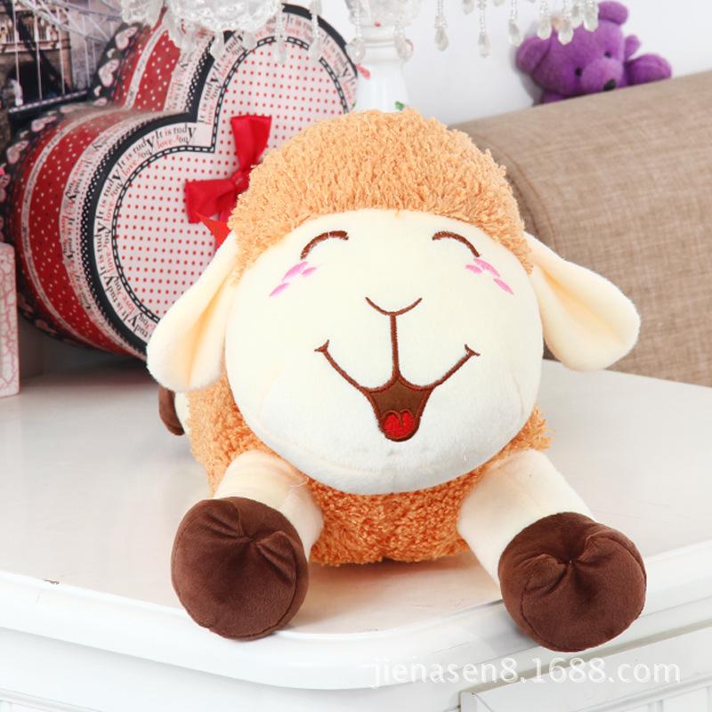Free Shipping 50cm toys sheep mascot stuffed doll cloth Plush lambs cartoon birthday Gift animal figures wholesale retail(China (Mainland))