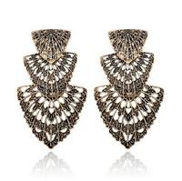 Earrings For Women Big Fashion Personality Retro Lovely Leaf Earrings Shadows Wholesale New Bohemian Earrings Long Rhinestone