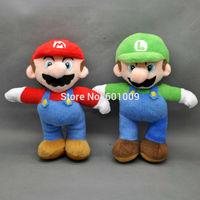 "Free Shipping New Super Mario Bros. Stand MARIO & LUIGI  Plush Doll Stuffed Toy 7.5"""
