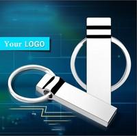 2015 Newest Silver usb Waterproof Metal USB Flash Drives pen drive 64GB 32GB 16GB 8GB 4GB Flash Drive with key ring Free Gift