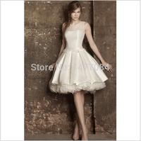 Elegant Cap Sleeve See Through Corset Short Wedding Dresses 2014154515454