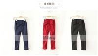 2014 new winter trousers of the fashion for girl Bowknot velvet thickening children  fleece leggings pencil pants