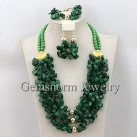 Perfect Nigerian Coral Beads Jewelry Set Latest Fashion Design Coral Necklace Bridal Jewelry Set  Hot Free Shpping CNR260