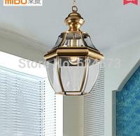 European Ba nock chandelier American retro full copper lamp restaurants balcony corridor lighting lamp free shipping