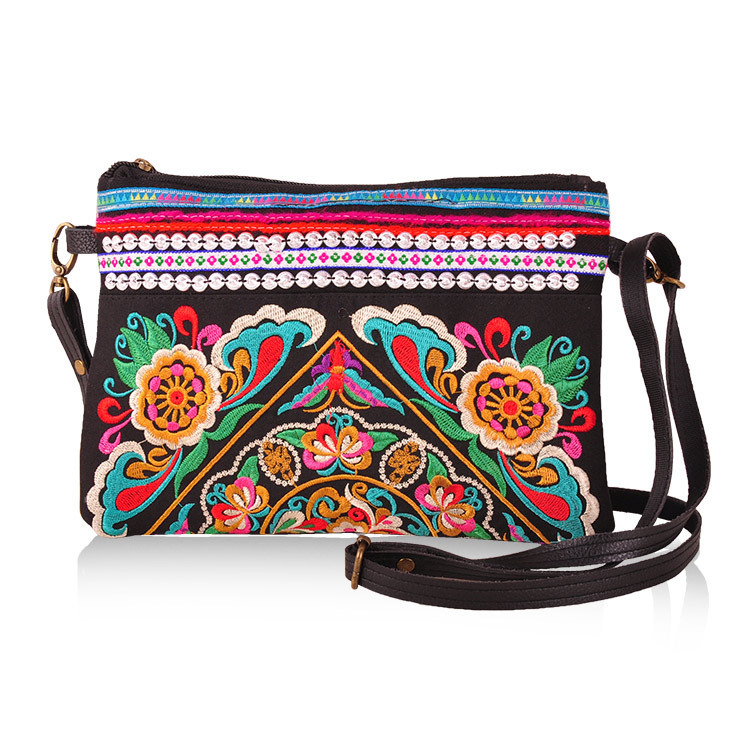 Embroidered Leather Bag Embroidered Leather Purse