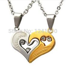 2015 lovers Pendant Fashion titanium Men's Jewelry Retro necklace Rhinestone Necklace New Year gift(China (Mainland))