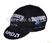 Black Discovery Hood Hat Cycling Cap Tour de france Team Bike Ride Sportsweart Headgear Hot sale hat cool Bicycle Sportswear