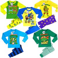 ohlees mew Ninja Turtles baby clothing boy kid Pajama Sets sleepwear nightgown cartoon printed costume children kids homewear