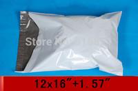 "[PM1216]- White 12"" x 16""+1.57"" LIP 305 x 407+40mm SELF SEAL POLY MAILERS EXPRESS BAGS ENVELOPE [100PCS]"