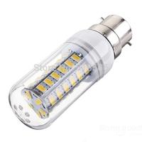 LED Candle Bulb Light B22 Base 15W LED Corn Bulb Lamp with cover 48 SMD5730 Warm White/Cold White AC220V/230V/240V
