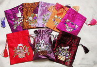 Wholesale cheap  WHOLESALE 10PC CHINESE HANDMADE Silk BAGS Jewelry bag / Free Shipping