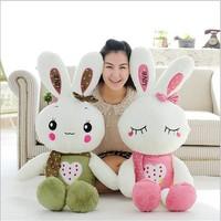 High Quality 80cm Lovely Plush Doll Toy Stuffed Animal Rabbit Pillow Bolster