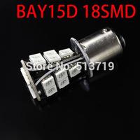 1X 1157 LED BAY15D P21/5w Car Auto Vehicle 18 SMD 5050 LED Canbus Error Free Turn Signal Lamp Bulb DC 12V xenon white