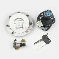 Ignition Switch Lock & Fuel Cap key set  Gas Cap Cover Set for Honda CBR 600RR 03-06 04 05