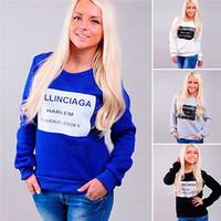 New Woman Letter Printed Sweatshirts Hoody Spring Autumn Moleton Feminine Loose Pullover Casual Long Sleeve Sportswear CX852744