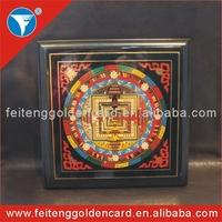 Decorative OEM MDF Buddha Painting Wood Plaque