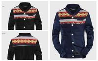 Mosaic pattern retro jacket Korean male and female couple patchwork Slim Jacket chaquetas barcelona jacket 2015 Sports Coat