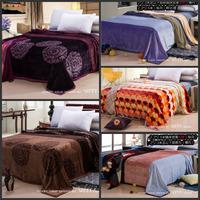 Free shipping! 230*200CM Spanish Super cloud cover blanket cloud mink cashmere blankets flannel blanket sheets 13 color.