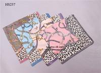 "21""x21""  100 silk plain leopard scarf  / fashion women belts design printed silk scarf bandana  free shipping"