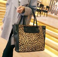 2015 welcome dropshipping Leopard big bag handbag fashion luxury women lady ladies girl shoulder bag c03-050
