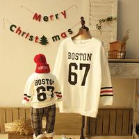 676 Korean children sweater Korean children's clothing plus thick velvet Family fitted Dongdaemun synchronization shelves