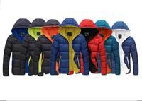 2014 the new fashion men winter coat solid zipper facing 7 color jacket size M--XXXL