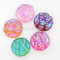 Free shipping new arrival 12mm 50pcs AB Flatback Resin Round Stone beads, flatback resin rhinestone for DIY decoration