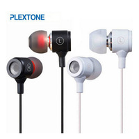 1pcs Plextone X37M 3.5mm In Ear Stereo Bass Headset Headphone Earphone For MP3 Iphone Samsung Mobile Phone With In Retail Box