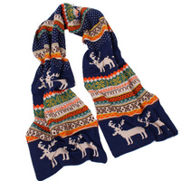 Bohemian Style Winter Scarf Women Desigual Brand Scarf Christmas Deer Winter Pashmina Double Sided Long Wool Scarf Fashion Wraps