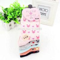 Free Shipping 5pairs/lot 2015 women wool socks winter fashion warm casual socks cute cartoon socks