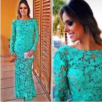 new2015 moda mulheres longa maxi blue vestido de casamento backless  fashion winter dress Long-sleeved lace vestidos