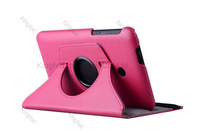 150pcs/Lot for ASUS Fonepad 7 FE170  360 Degrees Rotating Rotation Protective PU Leather Case with Stand