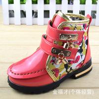 Shoes wholesale 2014 new winter fashion female models two cotton children warm cotton boots children boots