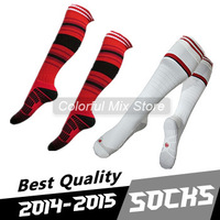 Free Shipping Ac Milan Socks Best Thai Quality Ac Milan Soccer Socks Home Away football Socks