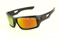 Hot Sell Brand Acetate Sprots Sunglasses Men's/Women's Designer Eyepatch II OO9136-06 Black Sunglass Fire Iridium Lens Polarized