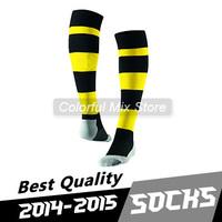 Free Shipping 2015 Borussia dortmund Socks Best Quality Borussia dortmund Soccer Socks Home Away football Socks