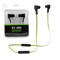 Top Quality Bluetooth Headphones BT-H06 Stereo Headset One String Earphone Earbuds for iPhone 4 5 6 Plus Samsung HTC Smartphone