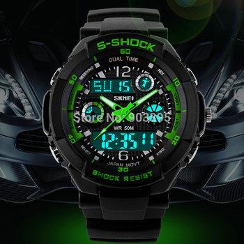 S 2015 новый SKMEI люксовый бренд мужчины часы цифровой из светодиодов кварцевые ...