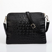 2015 New Fashion Women Messenger Bags Genuine Leather Big Brand Designer Alligator Patter Shoulder Bags Luxury Shell Bags W010