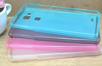 Free shipping 20pcs transparent matte tpu case cover for Huawei Mate 7 with excellent quality different colours
