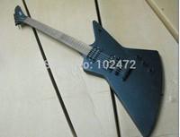 Classic  Matte Black 1958 korina explorer electric guitar shaped