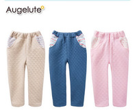 3 Colors Free Shipping 6 pieces/lot 0-9 Years Kids Winter Air Cotton Warm Pants Boys and Girls Thick Confortable Trousers