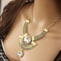 MXIUX Jewelry (2 pieces/lot) Hot-Selling Fashion Teardrop Vintage Retro Antique Chain Necklaces & Pendants 2014 New CX007