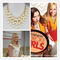 Broke Girls C Multi-layer pearl necklace Necklaces & Pendants CX103 MXIUX