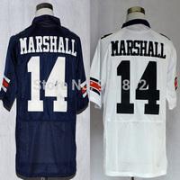 Ncaa Auburn Tigers #14 Nick Marshall white/ blue college football jerseys mix order free shipping