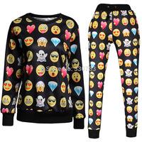 Emoji outfit dress 3D emoji joggers and sweatshirt mens emoji joggers womens joggers pants emoji jogger set girl emoji joggers