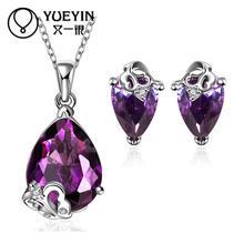 FVRS010 2015 new fine jewelry sets Extravagant Party jewlery set for lady Fashion Big Crystal set