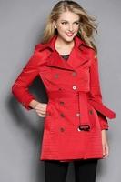 Plus size XXL Clothes New Arrival 2014 Autumn winter brand design plaid plus velvet winter warm wadded jacket outerwear#Y60830