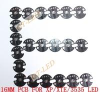 Freeshipping!16MM CREE XPE/XPG/XTE/3535  LED Black Color PCB/ Aluminu base plate/ Circuit board/ PCB LED board 100pcs/lotm